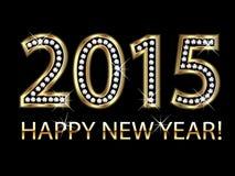 Nouvelle année 2015 en or avec des diamants