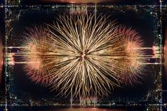 Nouvelle année 2015 et fond de feu d'artifice Images stock