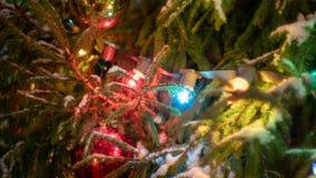 Nouvelle année et lumières de Noël photographie stock