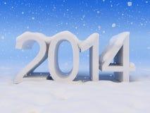 Nouvelle année et neige Photographie stock libre de droits