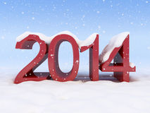 Nouvelle année et neige Image libre de droits