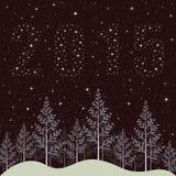 Nouvelle année illustration de 2015 vacances Images stock