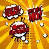 Nouvelle année, Joyeux Noël, ensemble de hohoho Photographie stock