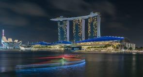 Nouvelle année légère de remorquage de Marina Bay /Lunar/nouvelle année Photographie stock