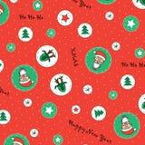 Nouvelle année, modèle de Noël Illustration Stock
