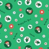 Nouvelle année, modèle de Noël Image libre de droits