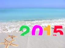Nouvelle année multicolore 2015 Photo libre de droits