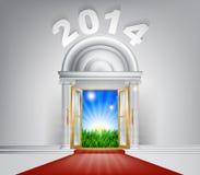 Nouvelle année nouvelle Dawn Door 2014 Photo stock