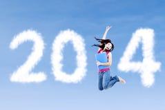 Nouvelle année 2014 pour l'étudiant Image libre de droits