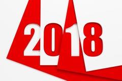 nouvelle année 2018, rendu 3d Photo libre de droits