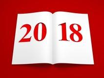 nouvelle année 2018, rendu 3d Image stock