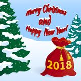 Nouvelle année s Ève 2018 -02 Image libre de droits