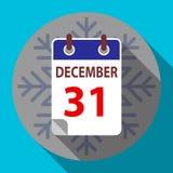 Nouvelle année ` s calendrier 31 décembre Image stock