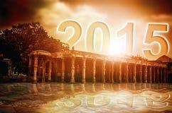 nouvelle année 2015 se levant Photo stock