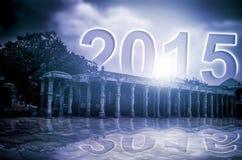 nouvelle année 2015 se levant Image libre de droits