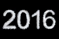 Nouvelle année 2016, style de fumée Image libre de droits