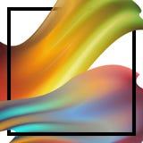 Nouvelle année sur le fond d'un élément de conception de pétrole coloré de traçage ou de peinture acrylique pour des présentation photographie stock