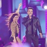 Nouvelle année TVP2 de gala de rêves, Zakopane, Pologne Photos stock