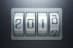 Nouvelle année 2018 venant, rendu 3d Images libres de droits