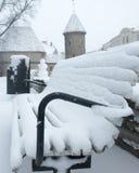 Nouvelle année 2015 vieux Tallinn Photographie stock libre de droits