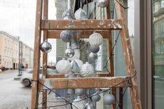 Nouvelle architecture de décoration de YER de rue démodée Photo stock