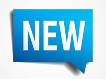 nouvelle bulle de papier réaliste de la parole du bleu 3d Images stock