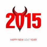 Nouvelle carte heureuse d'année de chèvre Photos libres de droits