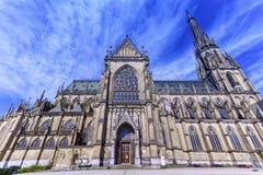 Nouvelle cathédrale de la conception impeccable, les DOM de Neuer, Linz, Autriche Image libre de droits