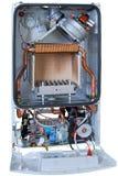 Nouvelle chaudière de gaz sans couverture Photo stock