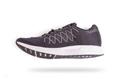 Nouvelle chaussure noire d'espadrilles Pris au studio et d'isolement sur le blanc Photos libres de droits