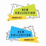 Nouvelle collection de logotypes promotionnels de l'été 2017 réglés Image libre de droits