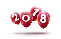 Nouvelle conception de 2018 ballons d'an Décoration heureuse de vecteur de ballon pour la célébration de nouvelle année Photos libres de droits