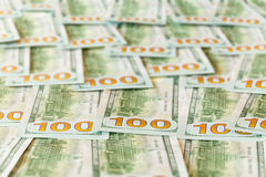 Nouvelle conception factures ou notes des USA des $100 dollars Photos libres de droits