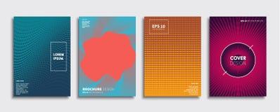 Nouvelle conception minimale originale de couvertures illustration de vecteur