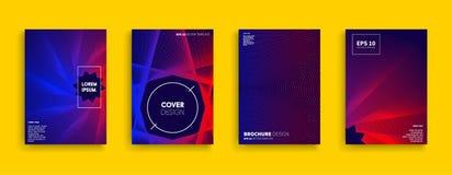 Nouvelle conception minimale originale de couvertures de vecteur Photo stock