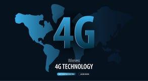nouvelle connexion sans fil de wifi de l'Internet 4G Site Web ou page mobile d'atterrissage d'APP Illustration de vecteur illustration stock