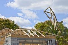 Nouvelle construction à la maison images stock