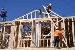Nouvelle construction à la maison encadrant dans le sud-ouest photo stock