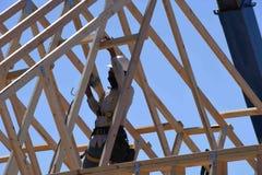 Nouvelle construction à la maison encadrant dans le sud-ouest photos stock