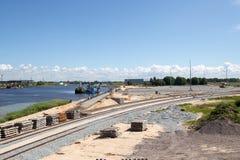 Nouvelle construction commerciale de dock Images stock