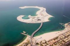 Nouvelle construction d'île de sable Photos stock