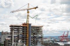 Nouvelle construction de tour à Seattle photographie stock