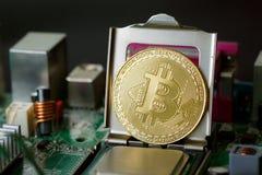 Nouvelle Cryptocurrency conception d'argent de commerce en ligne de Bitcoin photo libre de droits