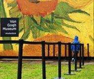 Nouvelle entrée Hall Van Gogh d'ouverture de fête Images libres de droits