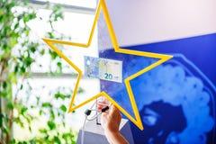 Nouvelle euro note Image libre de droits