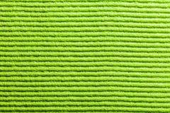 Nouvelle fin verte de tissu de vaisselle vers le haut de vue photos libres de droits