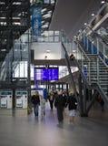 Nouvelle gare ferroviaire à Poznan, Pologne Image libre de droits