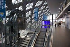Nouvelle gare ferroviaire à Poznan, Pologne Images stock