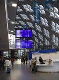 Nouvelle gare ferroviaire à Poznan, Pologne Photographie stock