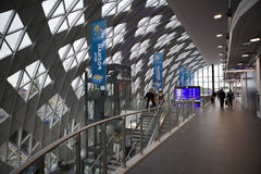 Nouvelle gare ferroviaire à Poznan, Pologne Photos stock